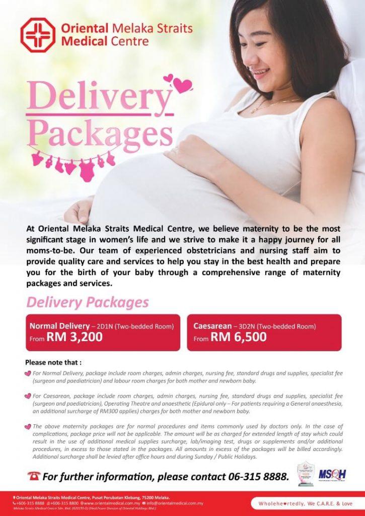 Omsmc Delivery Packages Melaka Straits Medical Centre